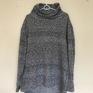 Long, fleece lined, full neck tunic